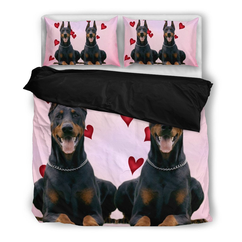 Valentine's Day Special-Doberman Pinscher Print Bedding Set-Free Shipping