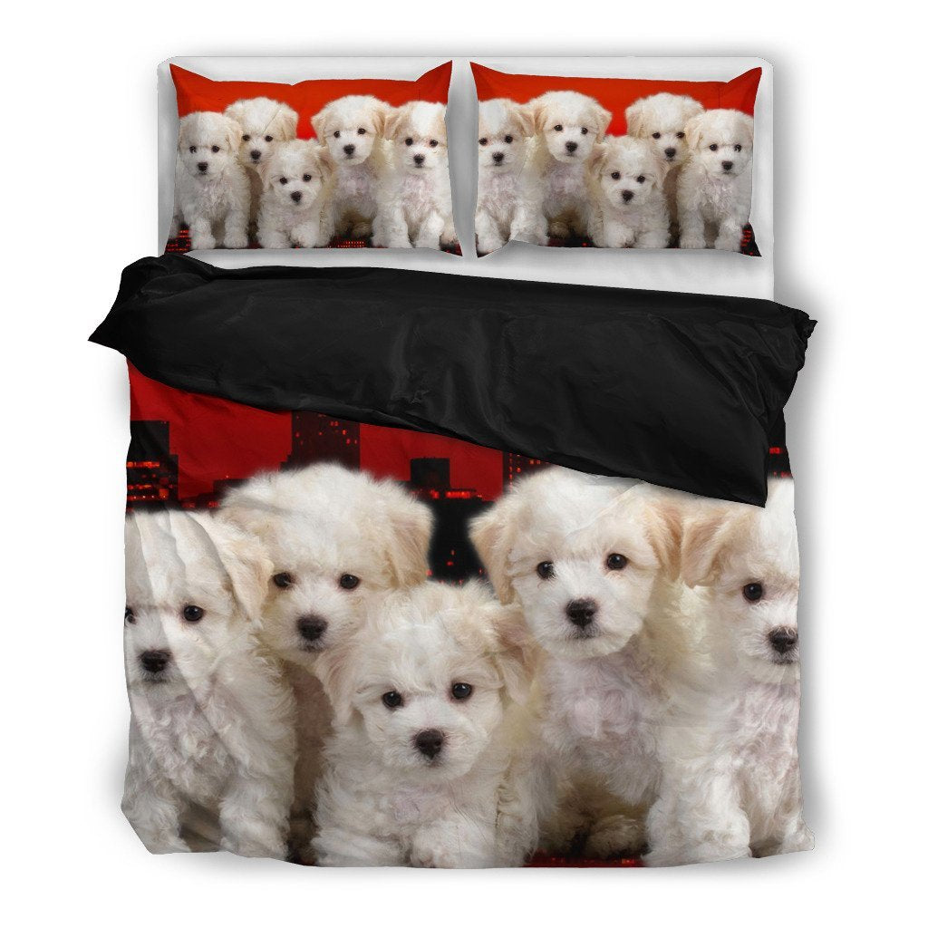 Bichon Frise Puppies Bedding Set- Free Shipping