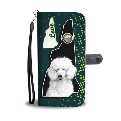 Cute Poodle Dog Print Wallet Case-Free Shipping-NH State