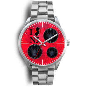 German Shepherd On Red New Jersey Christmas Special Wrist Watch-Free Shipping