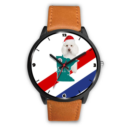 Poodle Dog Minnesota Christmas Special Wrist Watch-Free Shipping