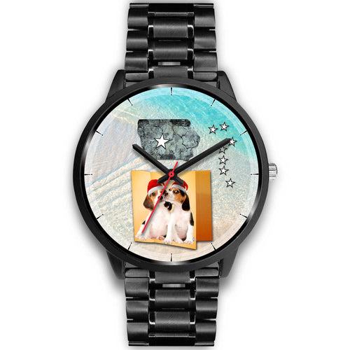 Cute Beagle Iowa Christmas Special Wrist Watch-Free Shipping