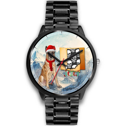 Belgian Malinois Dog Indiana Christmas Special Wrist Watch-Free Shipping