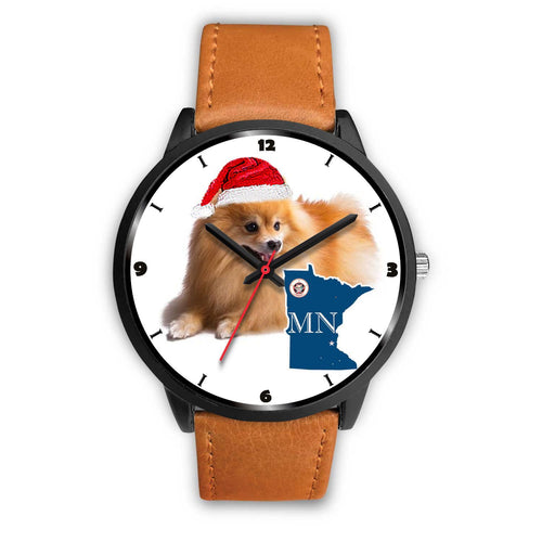 Pomeranian Dog Minnesota Christmas Special Wrist Watch-Free Shipping