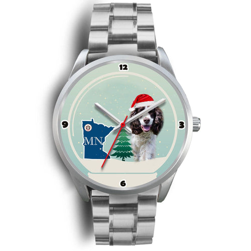 English Springer Spaniel Minnesota Christmas Special Wrist Watch-Free Shipping