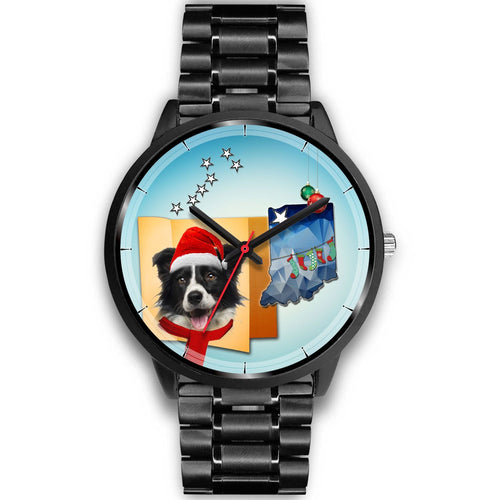 Border Collie Indiana Christmas Special Wrist Watch-Free Shipping
