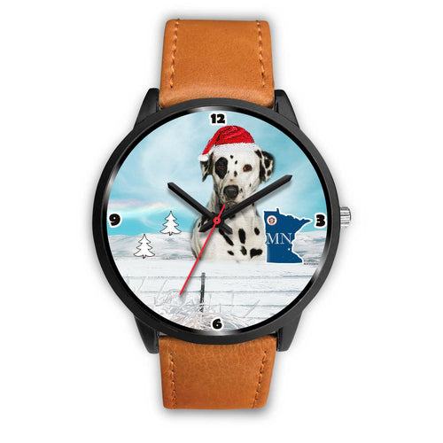 Dalmatian Dog Minnesota Christmas Special Wrist Watch-Free Shipping