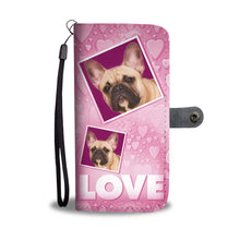 French Bulldog with Love Print Wallet Case-Free Shipping