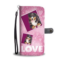 Bernese Mountain dog with Love Print Wallet Case-Free Shipping
