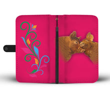 Duroc pig Print Wallet Case-Free Shipping