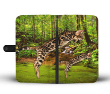 Bengal Cat Print Wallet Case- Free Shipping