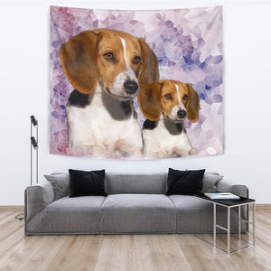Amazing American Foxhound Dog Print Tapestry-Free Shipping