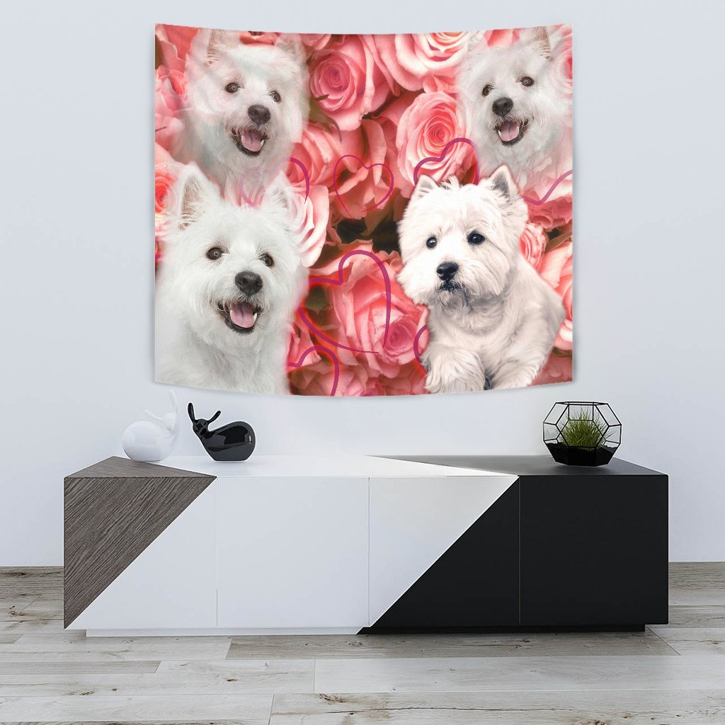 West Highland White Terrier Print Tapestry-Free Shipping