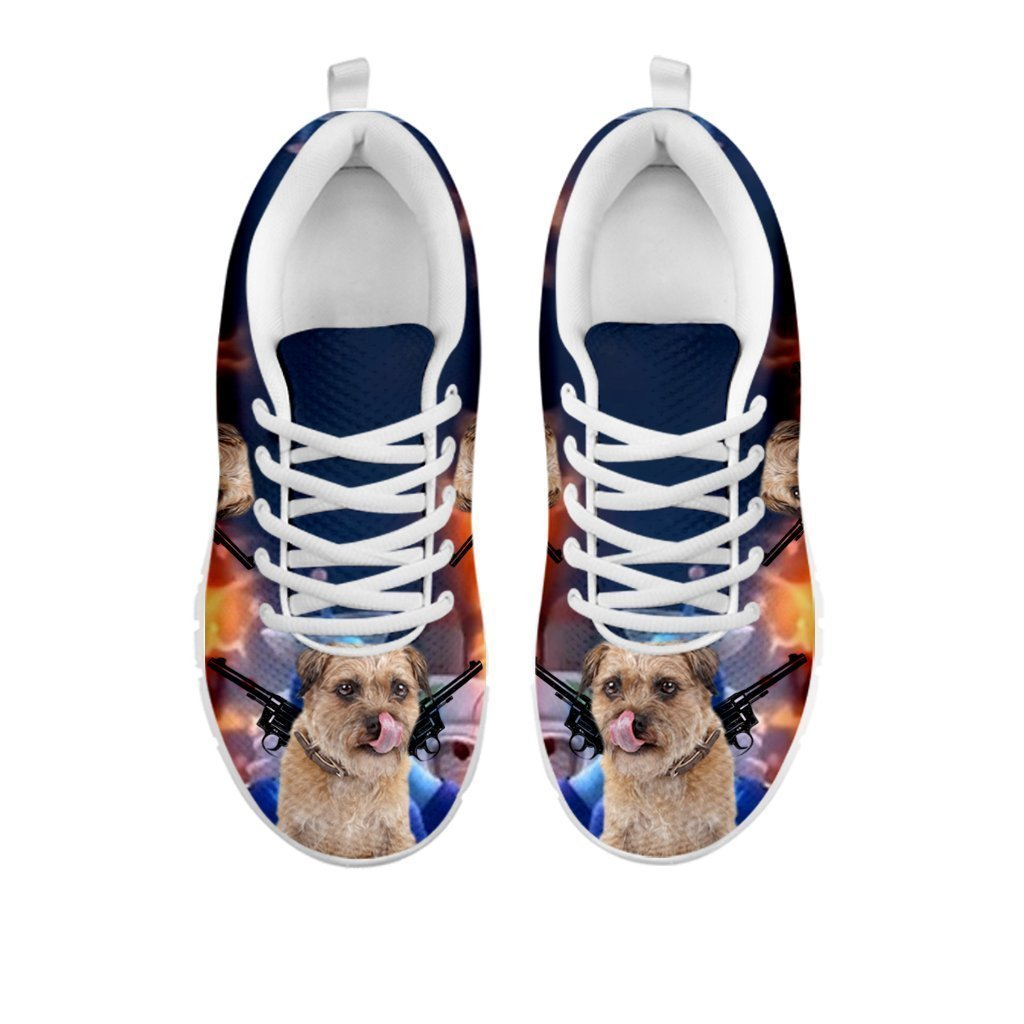 Amazing 'Hero' Border Terrier Dog Print Running Shoes For Women-Free Shipping-For 24 Hours Only