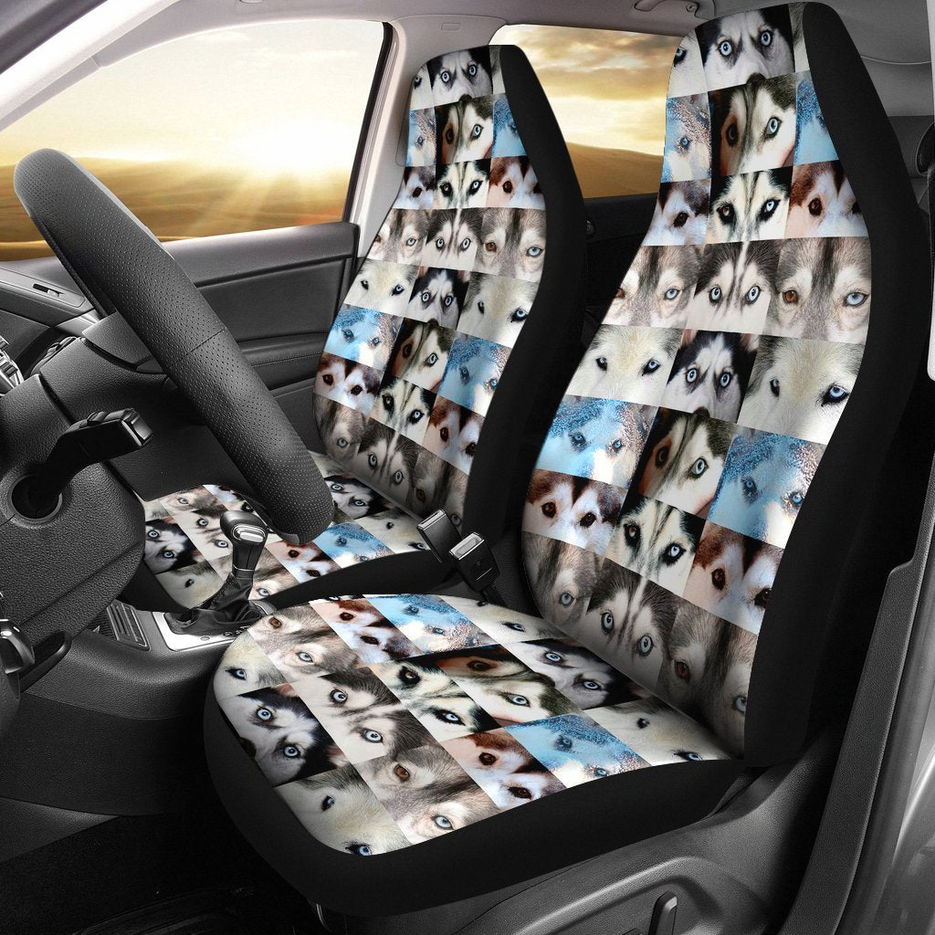 Siberian Husky Eyes Print Car Seat Covers-Free Shipping