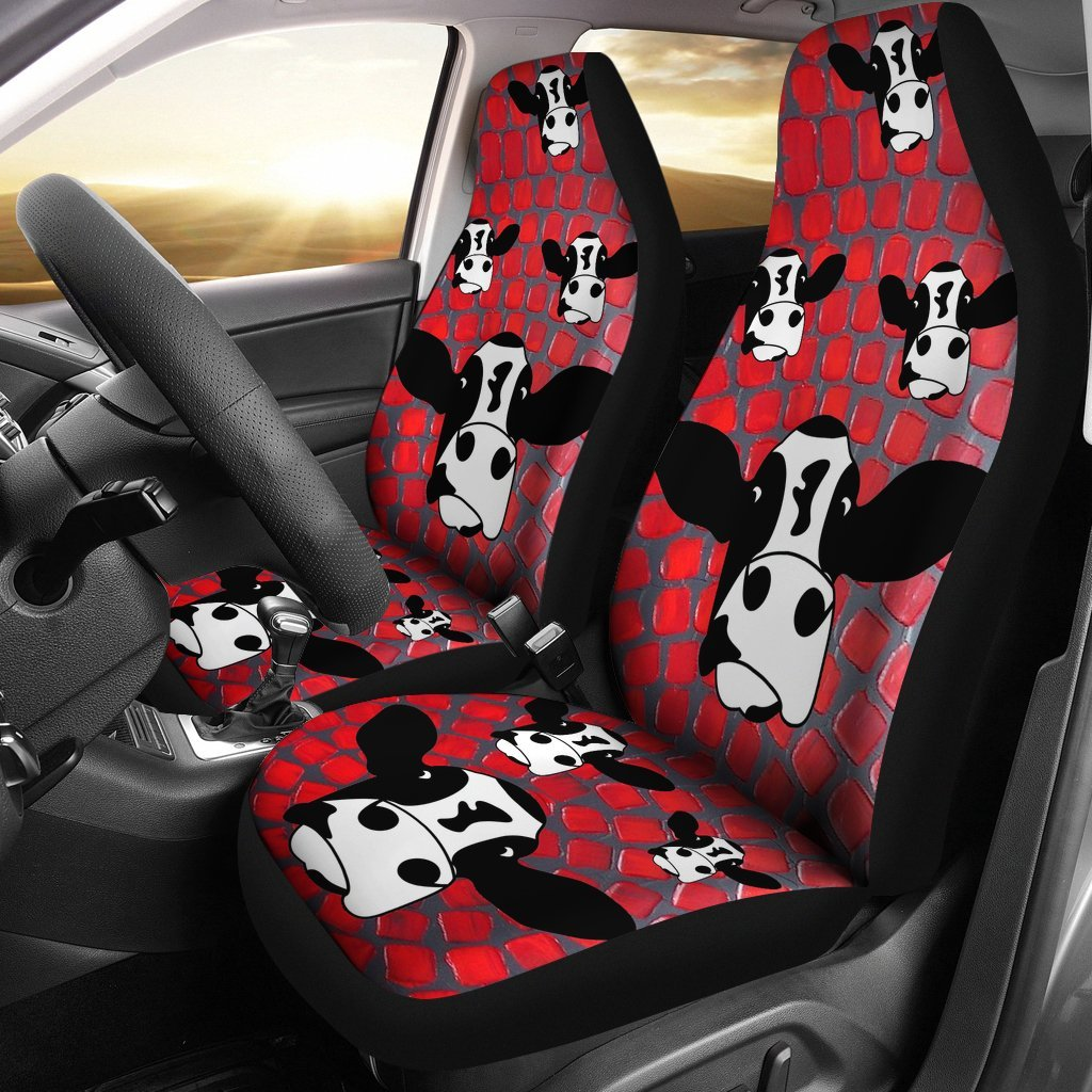 Cow Print Car Seat Covers-Free Shipping