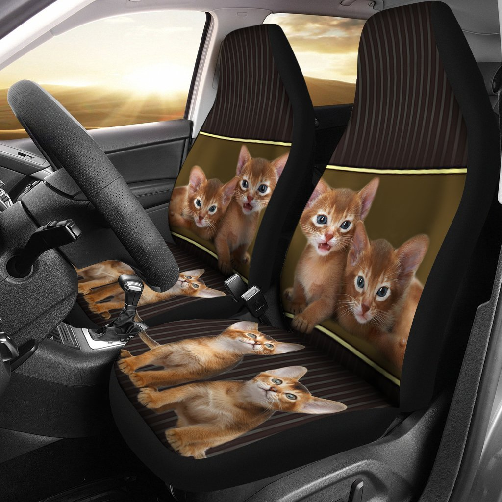 Abyssinian cat Print Car Seat Covers-Free Shipping
