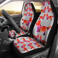 Dandie Dinmont Terrier Dog Pattern Print Car Seat Covers-Free Shipping