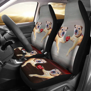 Border Terrier Print Car Seat Covers- Free Shipping