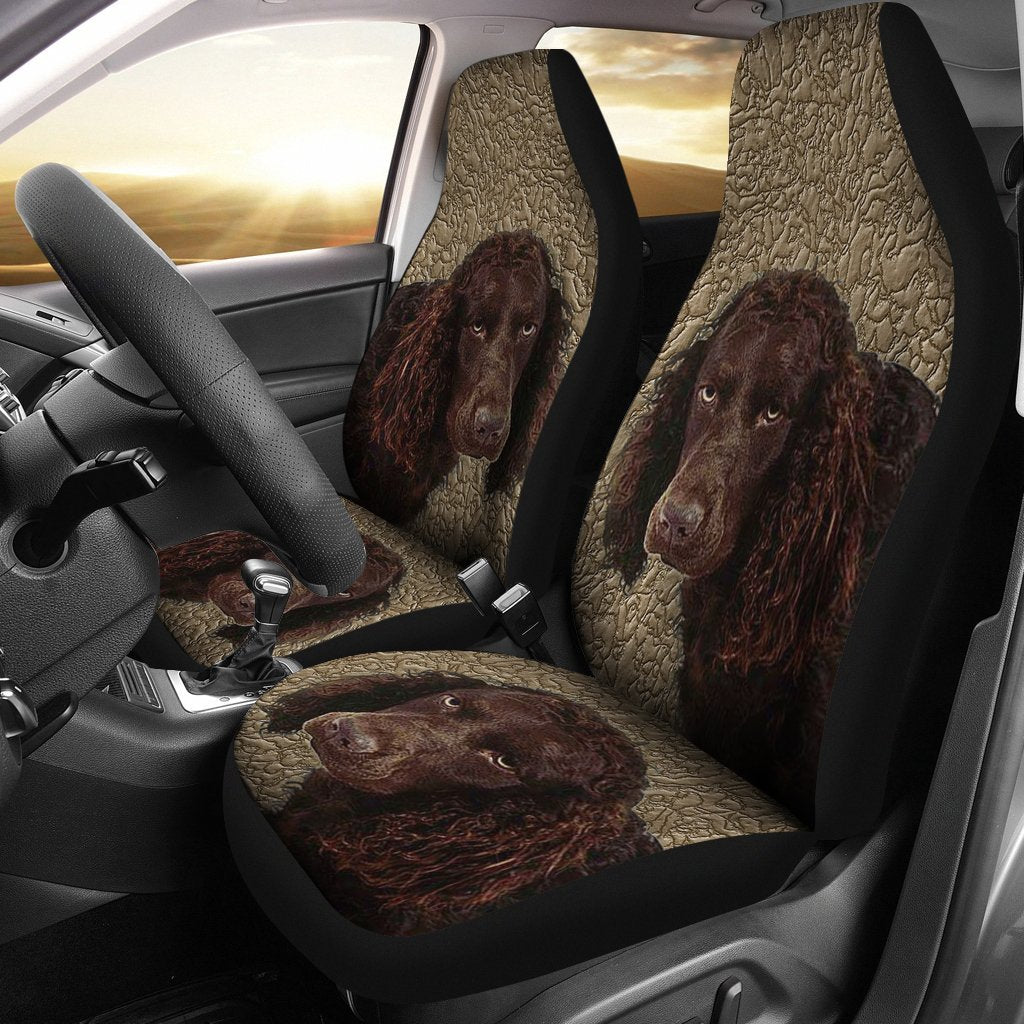 American Water Spaniel Dog Print Car Seat Covers-Free Shipping