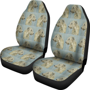 Irish Wolfhound Dog Patterns Print Car Seat Covers-Free Shipping