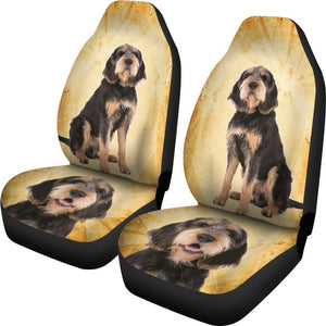 Otterhound Dog Print Car Seat Covers- Free Shipping