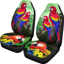 Lovely Scarlet Macaw Parrot  Print Car Seat Covers- Free Shipping