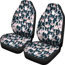 Border Collie In Lots Print Car Seat Covers-Free Shipping