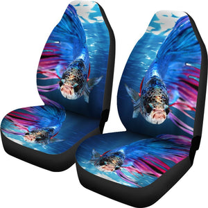 Siamese fighting fish Print Car Seat Covers-Free Shipping