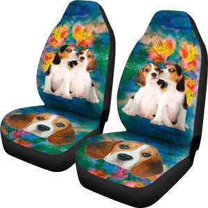 Cute Beagles Print Car Seat Covers-Free Shipping