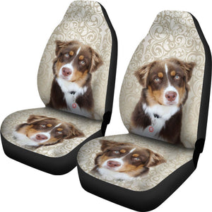 Miniature American Shepherd Print Car Seat Covers- Free Shipping