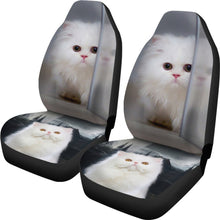 White Persian Cat Car Seat Covers-Free Shipping