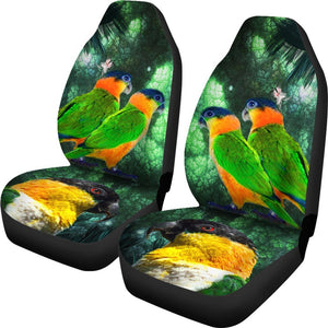 Caique Parrot Print Car Seat Covers- Free Shipping