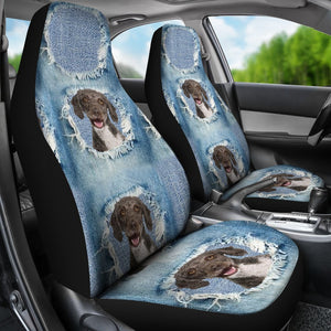 Spanish Water Dog Print Car Seat Covers-Free Shipping