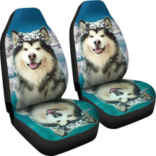 Alaskan Malamute Print Car Seat Covers- Free Shipping