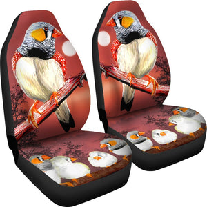 Zebra Finch Bird Print Car Seat Covers-Free Shipping