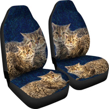 Lovely Selkirk Rex Cat Print Car Seat Covers- Free Shipping