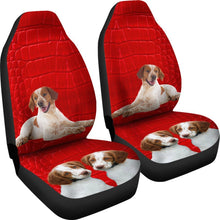 Brittany dog On Red Print Car Seat Covers-Free Shipping