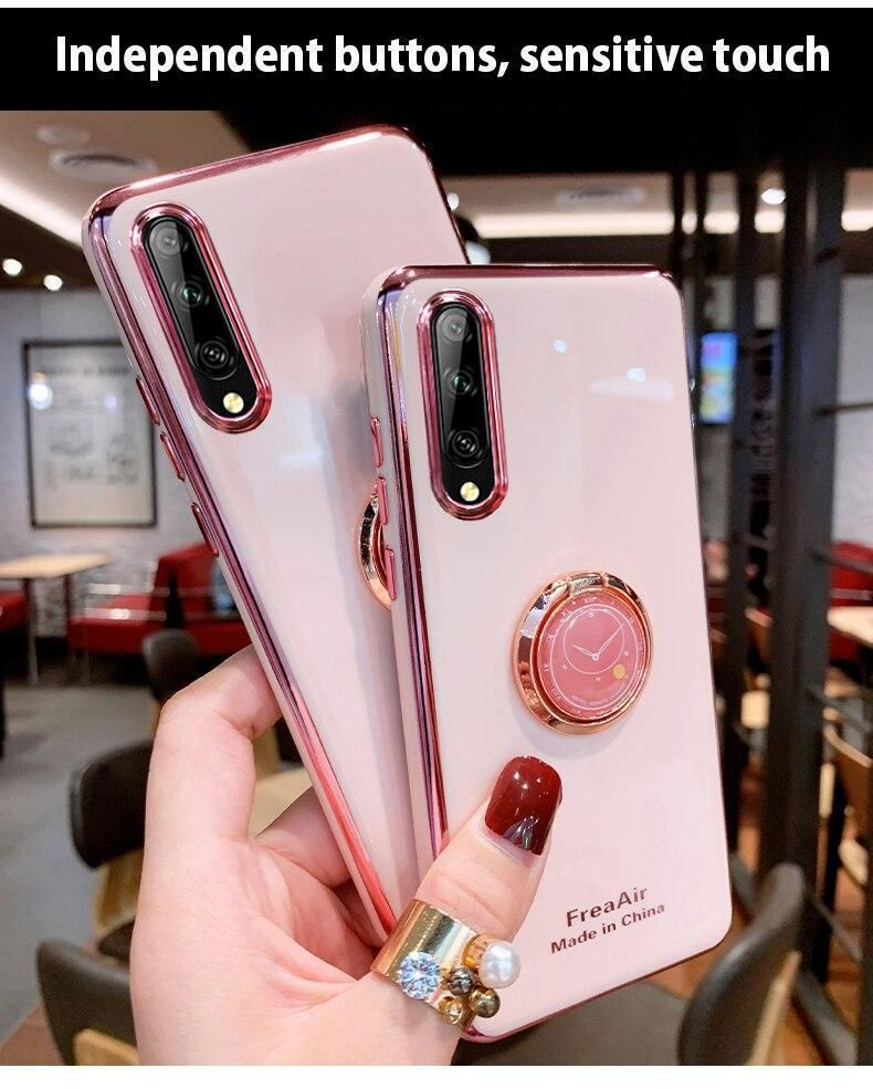 Clear Cute Phone Cases For Galaxy S8 S9 S10 S20 Note 8 9 10 Plus Holder - Touchy Style