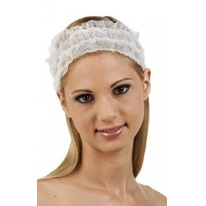 Disposable Non-Woven Headband White 50/PK