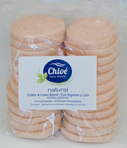 Chloe Cellulose Facial Wet Sponge 24/PK