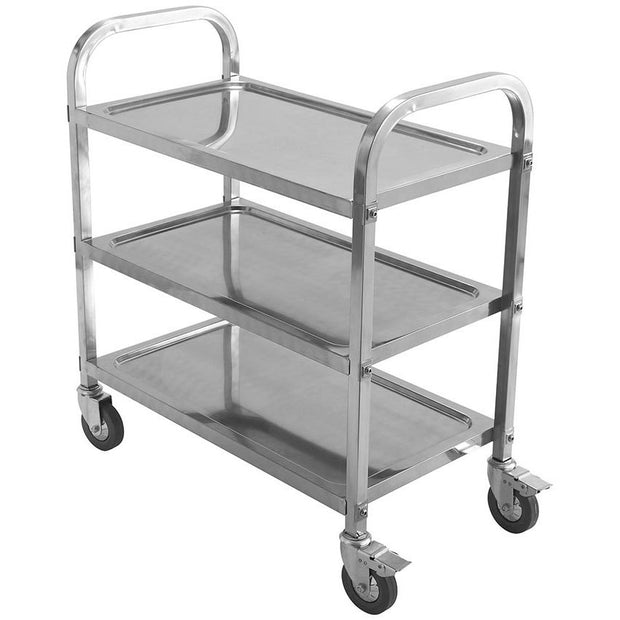 Stainless Steel Spa Cart with 3 Shelves