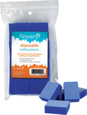 Flowery Disposable Mini Buffing Blocks 24/PK