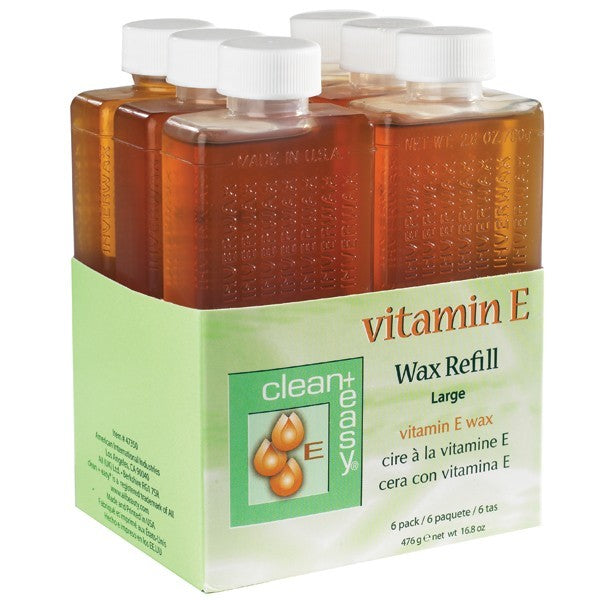 Clean+Easy Vitamin E Wax Refill Large 6/PK