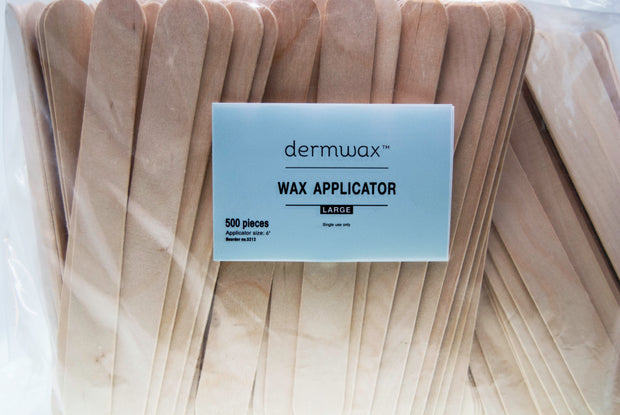 "Large Wax Applicator 6"" x 3/4"" - 500/PK"