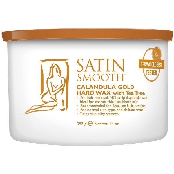 Satin Smooth Calendula Gold Hard Wax with Tea Tree Oil 14 oz