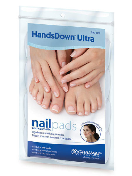 Handsdown Ultra Nail & Cosmetic Pads 240/PK