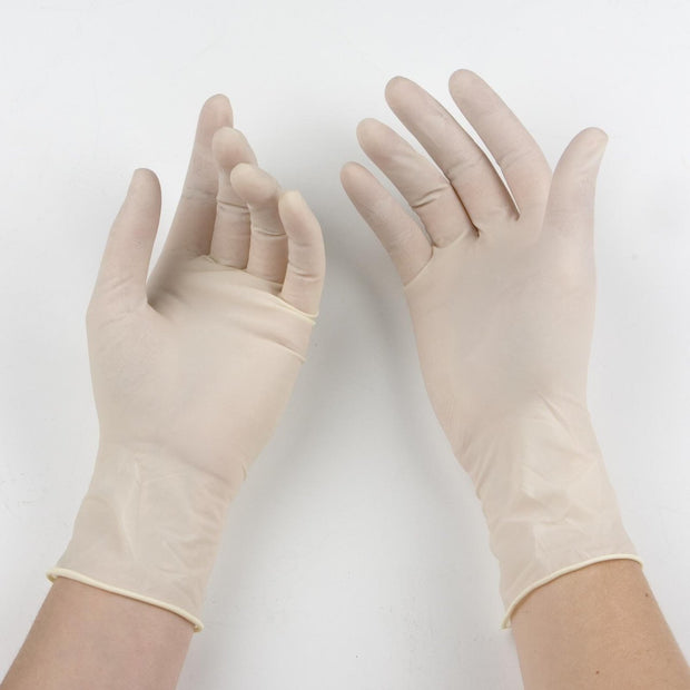 Latex Gloves - Powder-Free - 100/Box