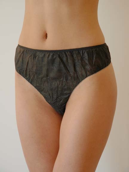 Ladies Spa Panties Black 6/PK