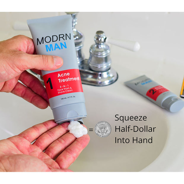 Modrn Man - Acne Treatment Step 1 - Face Wash & Shave Cream